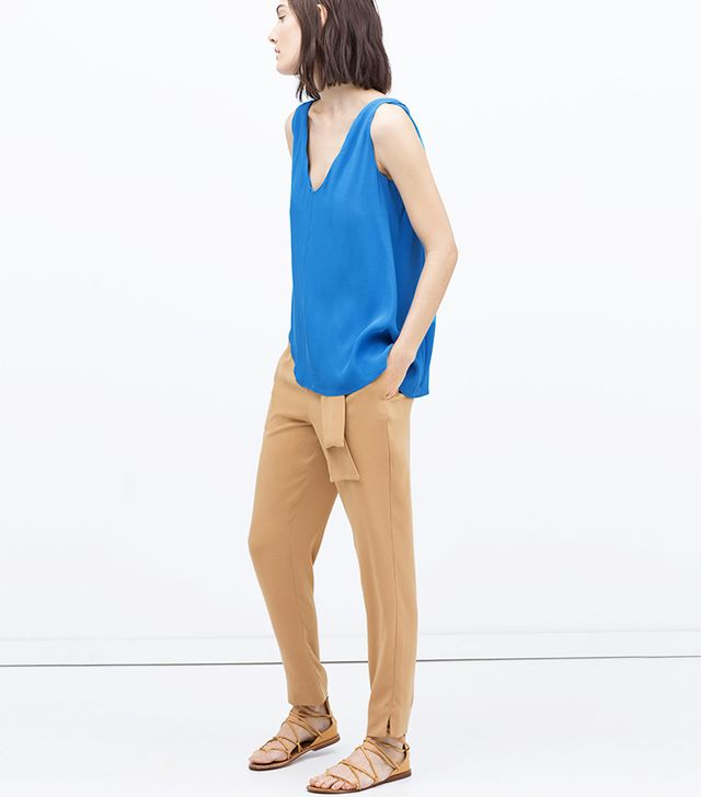 Zara Sash Belt Trousers with Bow