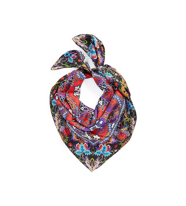 Echo Persian Rug Silk Square Scarf
