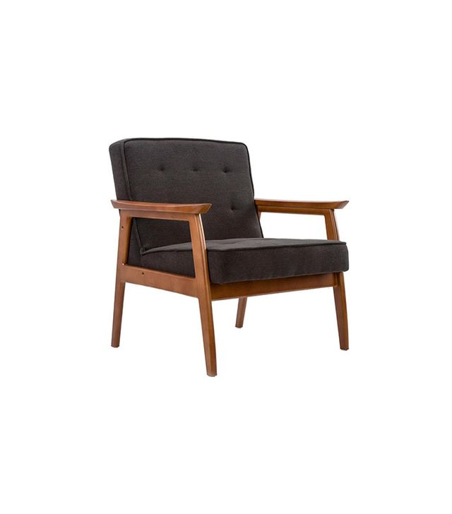 Dot & Bo Midcentury Walnut Lounge Chair