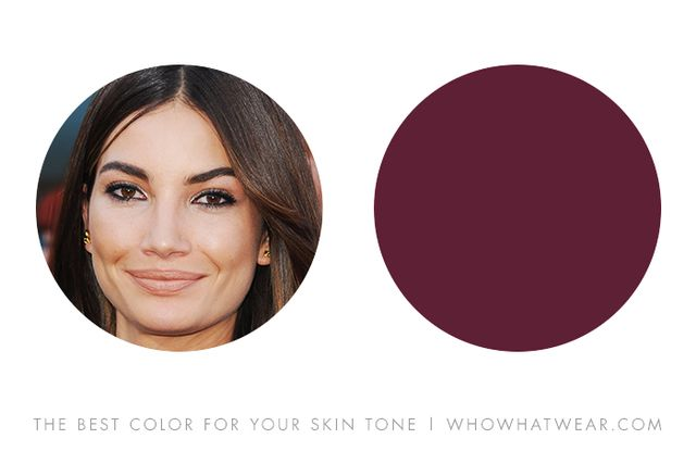 this is another shade of olive tone skin tone that looks dynamic in berry - Colors For Olive Skin
