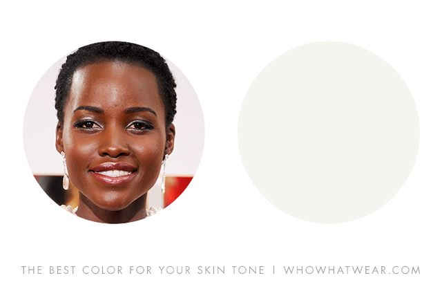 """Very deep skin tones can also wear jewel tones but are radiant with contrasting hues, especially cool aquas and snowy whites."" — Leatrice Eiseman, author of More Alive With..."