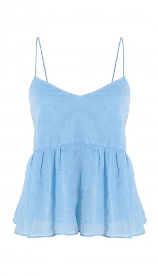 Tibi Summer Space Dyed Ruffle Cami