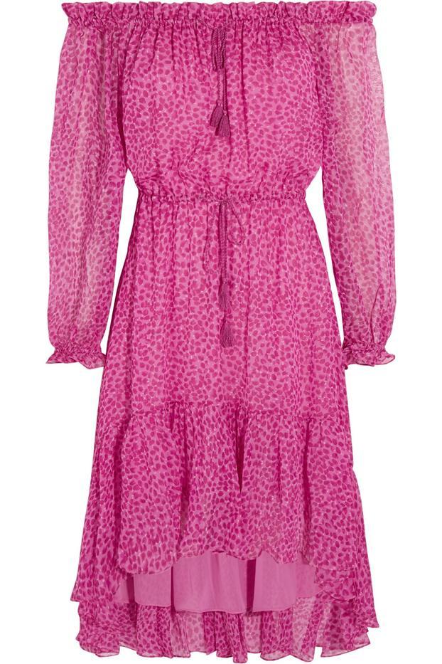 Diane von Furstenberg Camila Printed Silk-Chiffon Dress