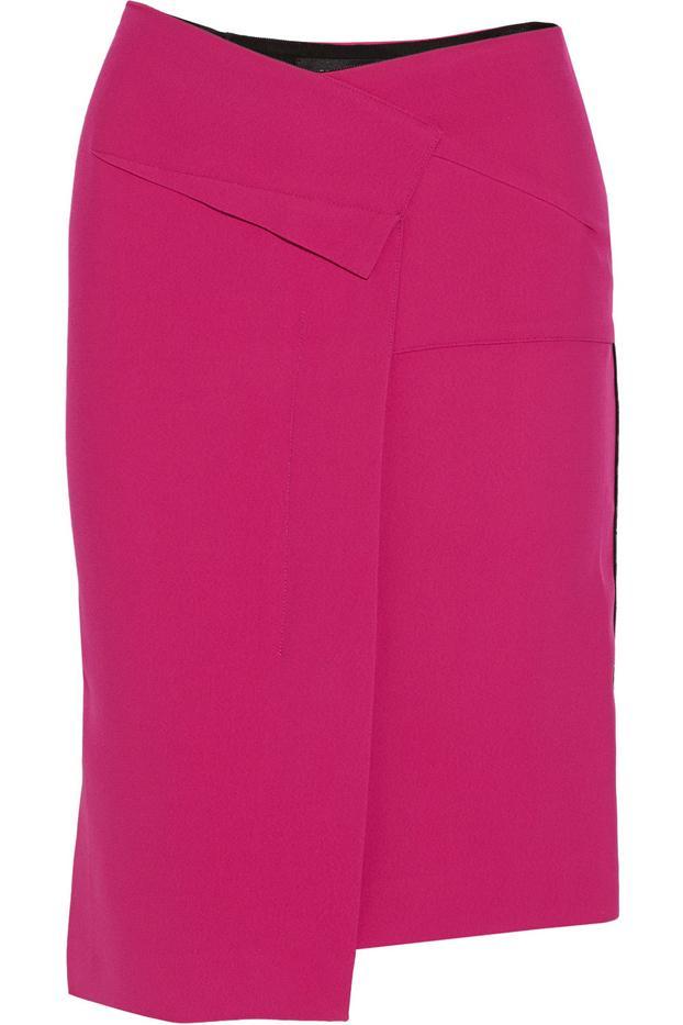 Roland Mouret Tupelo Asymmetric Crepe Skirt