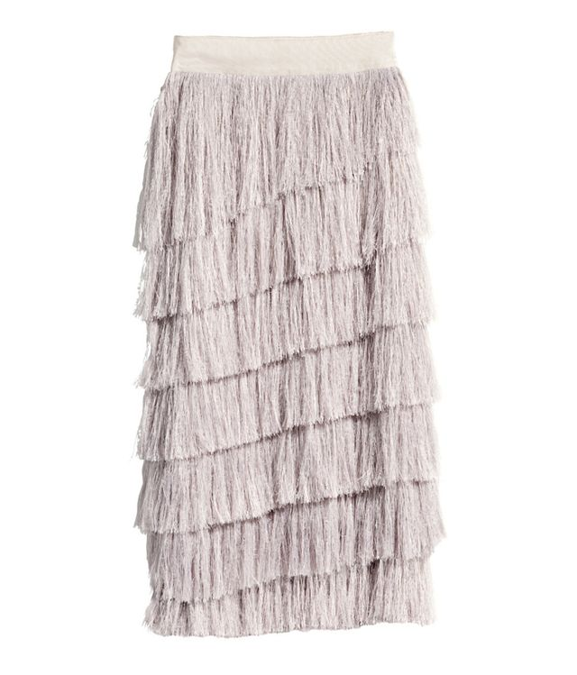 H&M Conscious Fringed Lyocell-Blend Skirt