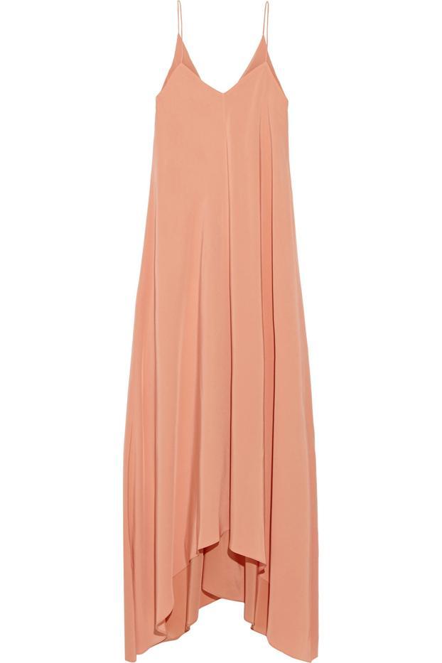 Tibi Asymmetric Silk Dress