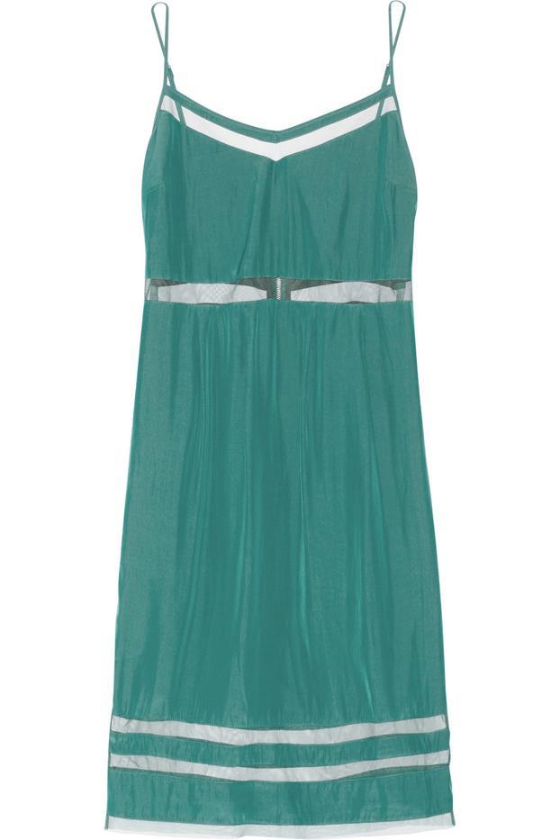 Elizabeth and James Sierra Mesh-Trimmed Washed-Voile Dress