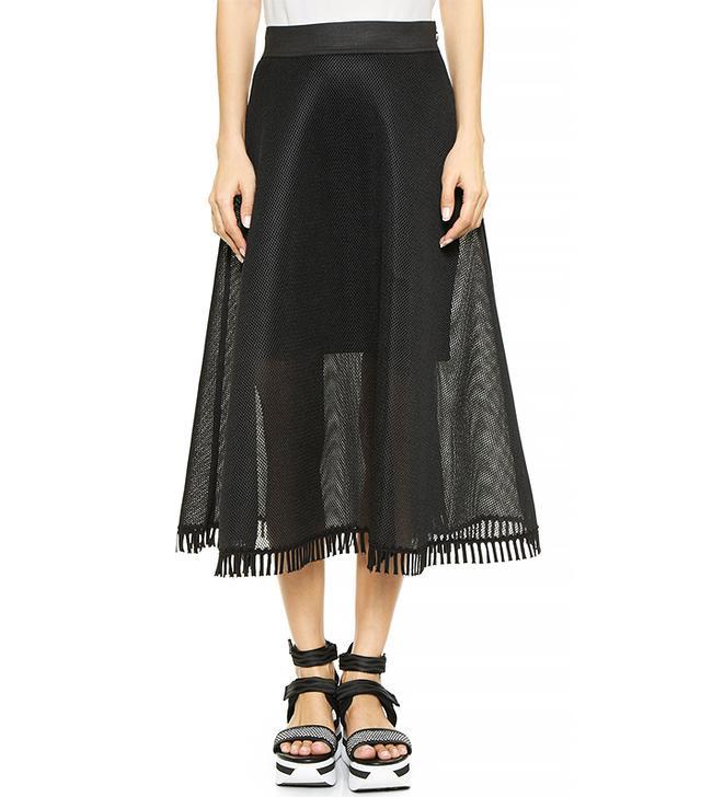 DKNY Full Midi Skirt With Eyelet Trim