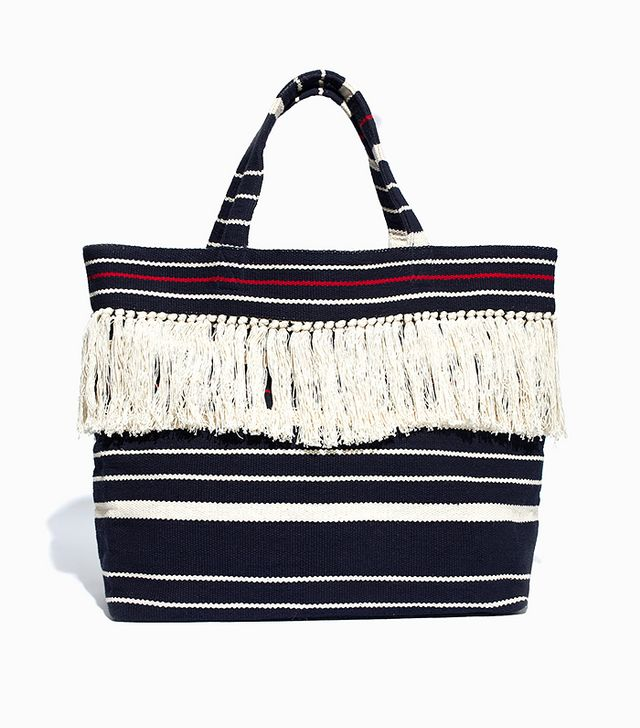 Madewell The Riviera Fringe Tote