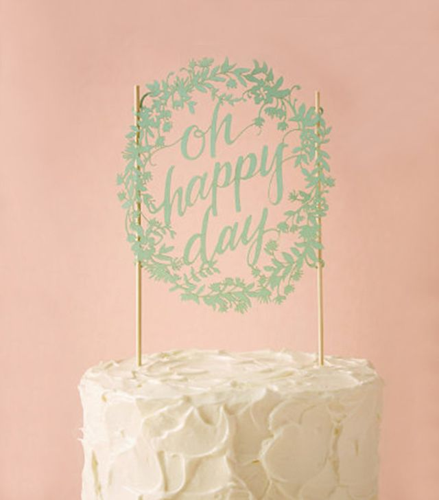 BHLDN Oh Happy Day Cake Topper