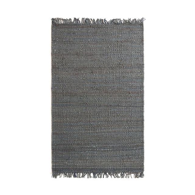 World Market Dark Blue Venora Flat-Woven Hemp Rug