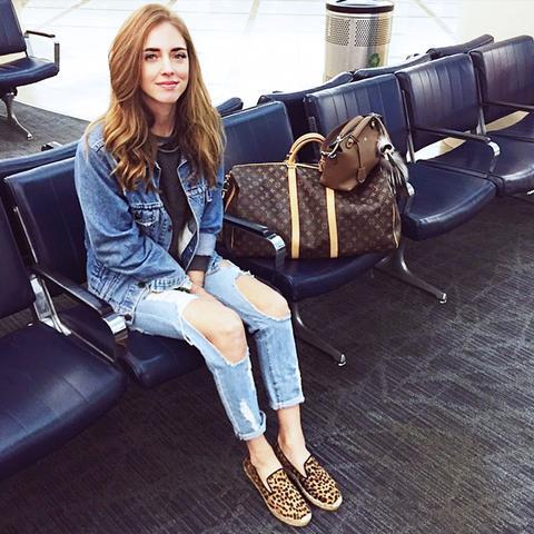 Chiara Ferragni airport style