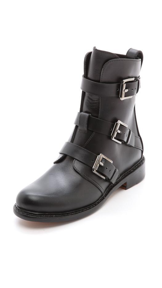 Rag & Bone Hudson Buckle Ankle Boots