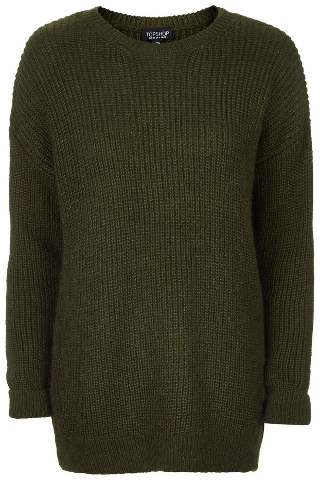 Topshop Grungy Lofty Ribbed Sweater