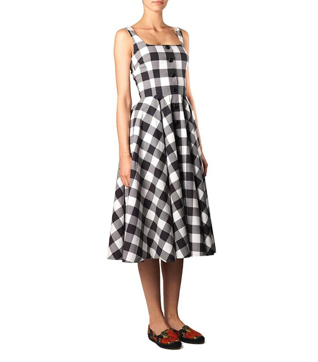 Dolce & Gabanna Vichy Gingham Dress