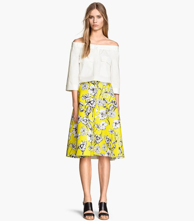 H&M Scuba-Look Circle Skirt