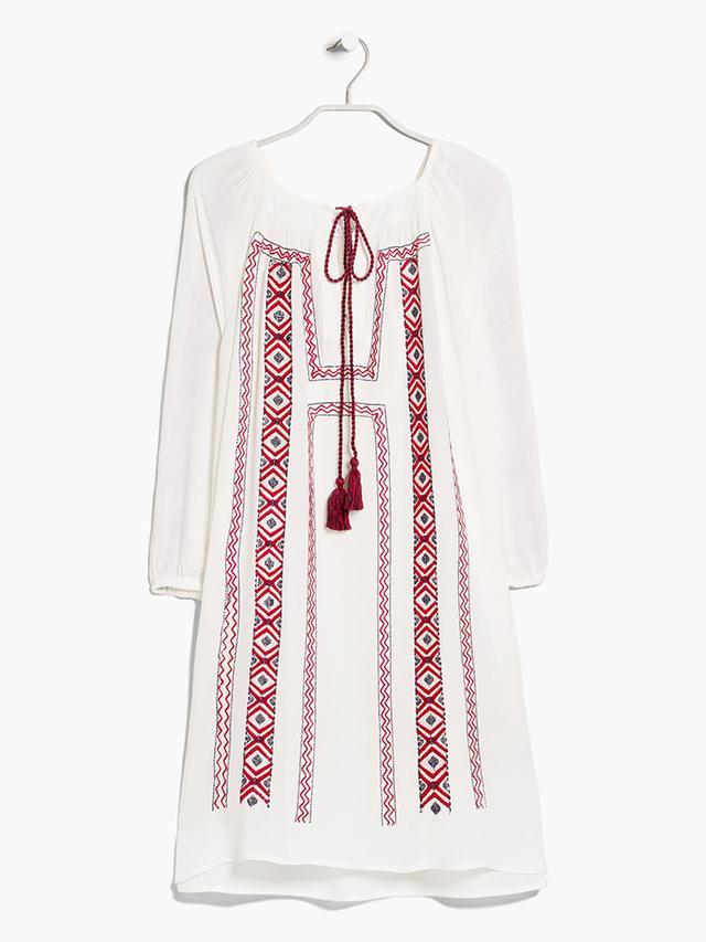 Mango Geometric Embroidery Dress
