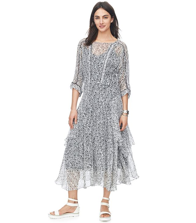 Rebecca Taylor Flight Feather Midi Dress