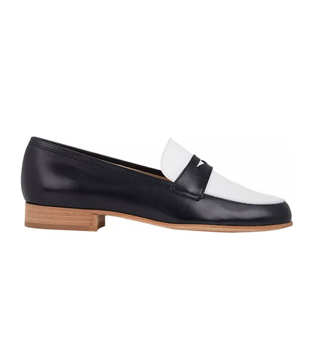 Barneys New York Bi-Colour Leather Penny Loafers