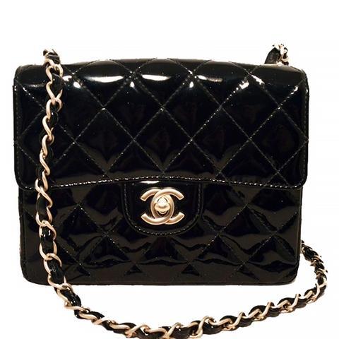 Patent Leather Mini Classic Flap Shoulder Bag