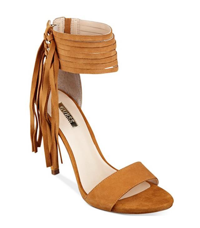 Guess Carlene Fringe Ankle-Strap Sandals