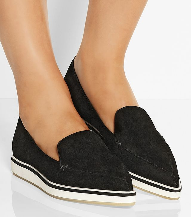 Nicholas Kirkwood Suede Point-Toe Flats