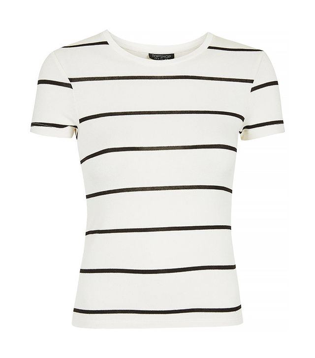 Topshop Short Sleeve Striped Tee