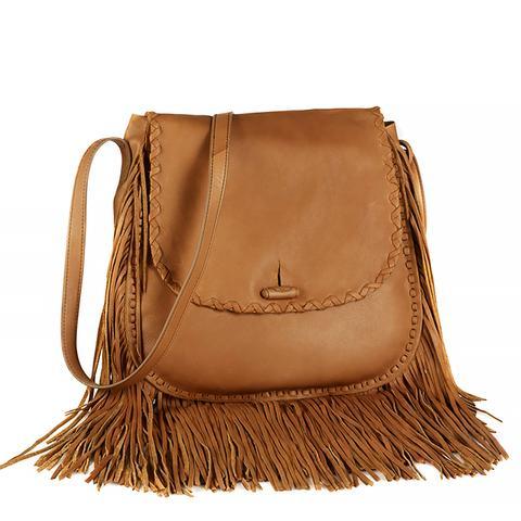 Large Fringe Shoulder Bag