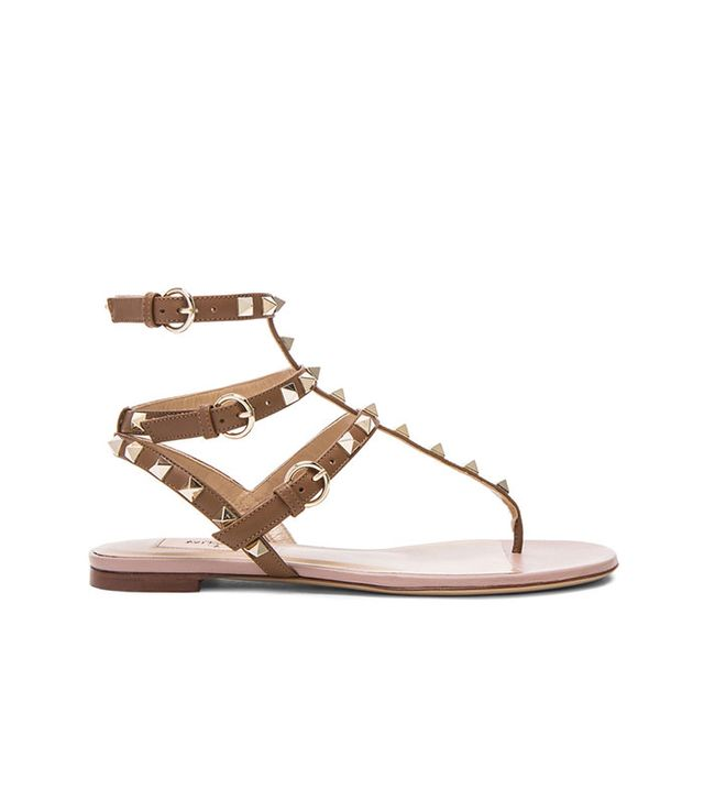 Valentino Rockstud Gladiator Leather Sandals