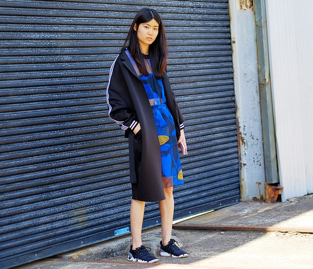 Australian ladies sure know how to turn a classic on its head. By pairing original Adidas sportswear with unexpected items like patent leather Mary Janes, a colourful sweaterdress or an...