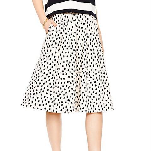 Leopard Dot Poplin Skirt