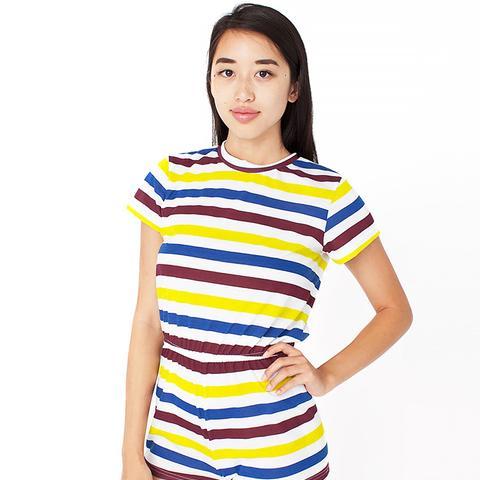 Striped T-Shirt Romper