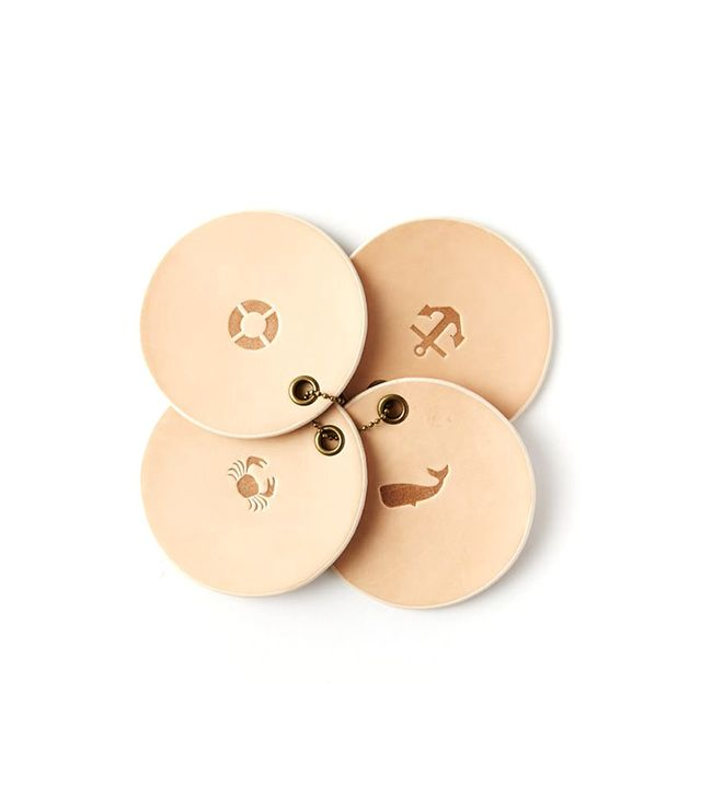West Elm Nautical Leather Coasters