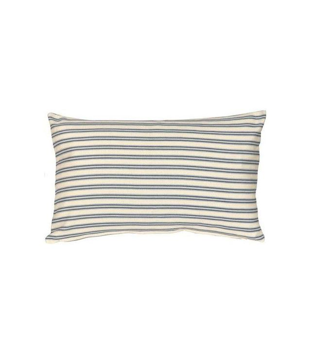 Pillow Decor Catalina Ticking Blue Pillow