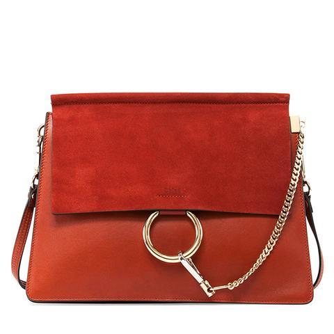Faye Medium Shoulder Bag, Red