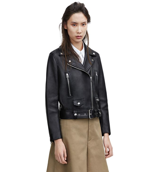 Acne Studios Mock Black Leather Jacket