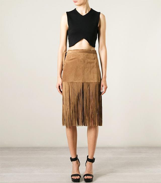 P.A.R.O.S.H. Mindy Fringe Skirt