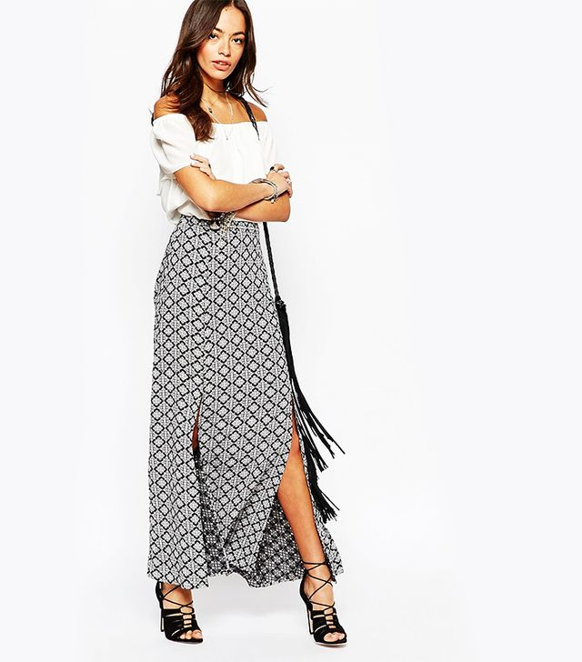 New Look Double Split Maxi Skirt