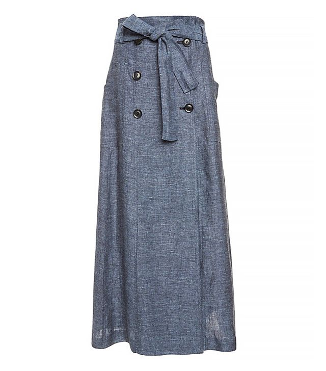 Marissa Webb Alexina Chambray Maxi Skirt