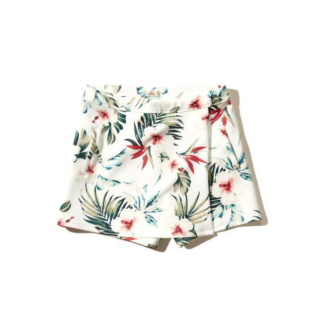 Hollister Floral Neoprene Wrap Skort