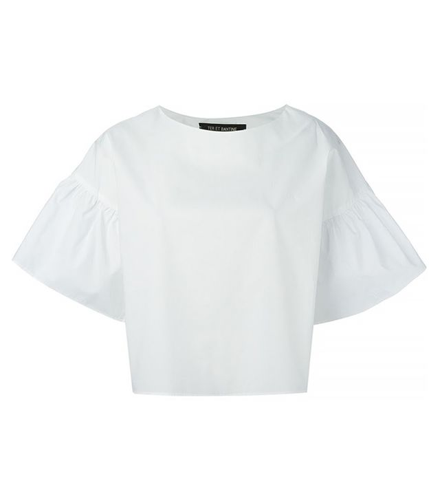 Ter et Bantine Bell Sleeved Crop Top