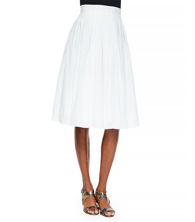 Risto Novara Pleated A-Line Skirt
