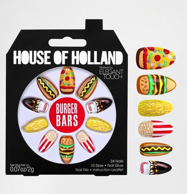 Elegant Touch House Of Holland Nail Art in Burger Bars