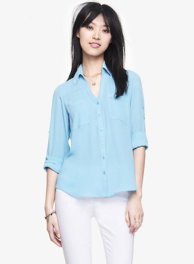 Express The Convertible Sleeve Portofino Shirt