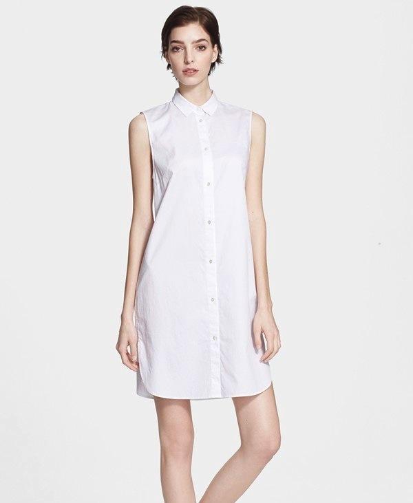 T by Alexander Wang Cotton Poplin Shirtdress