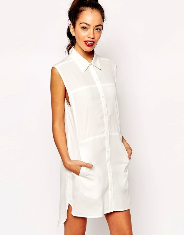 Daisy Street Sleeveless Shirt Dress