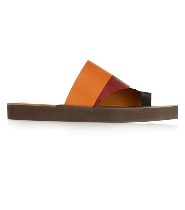 Chloé Colour-Block Leather Sandals