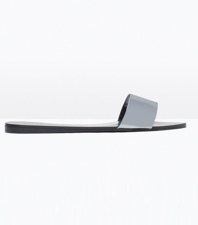 Zara Shiny Flat Slides