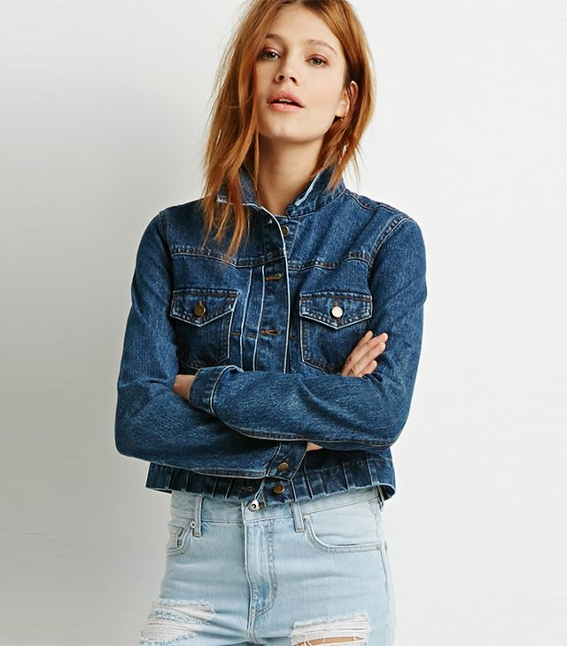 Forever 21 Life in Progress Denim Jacket