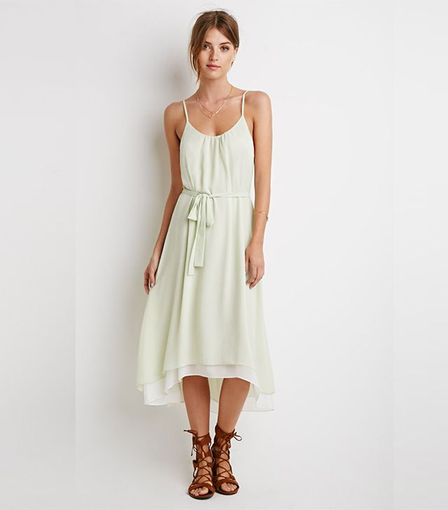 Forever 21 Textured-Chiffon Belted Dress